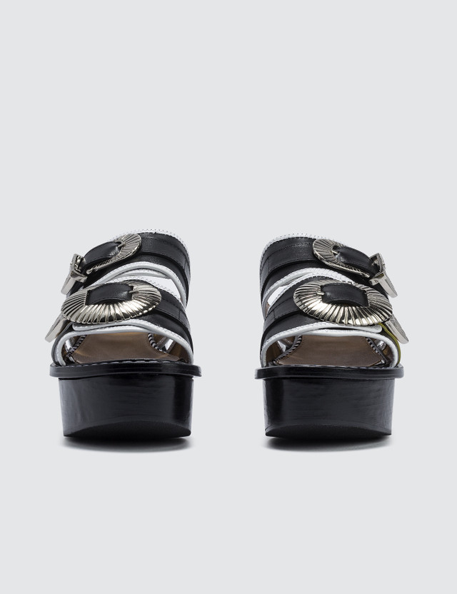Toga Pulla Leather Mix Platform Sandals