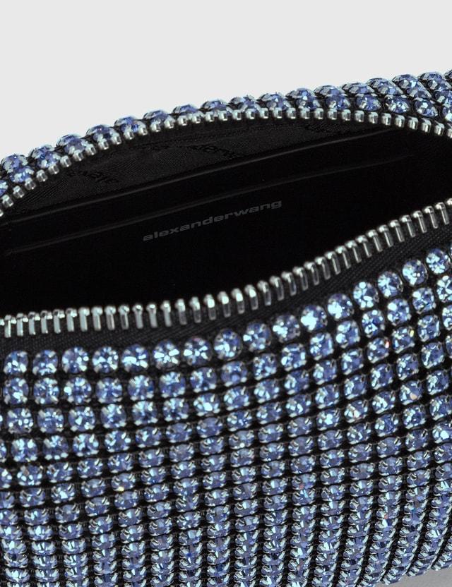 Alexander Wang Heiress Rhinestone Medium Pouch Baby Blue Women
