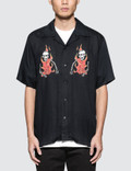 SSS World Corp Double Flaming Skeleton Hawaiian Shirt Picture