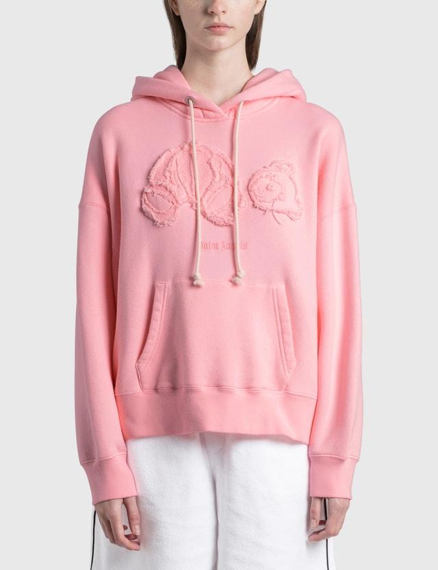 Palm Angels Tonal Bear Hoodie Pink Women