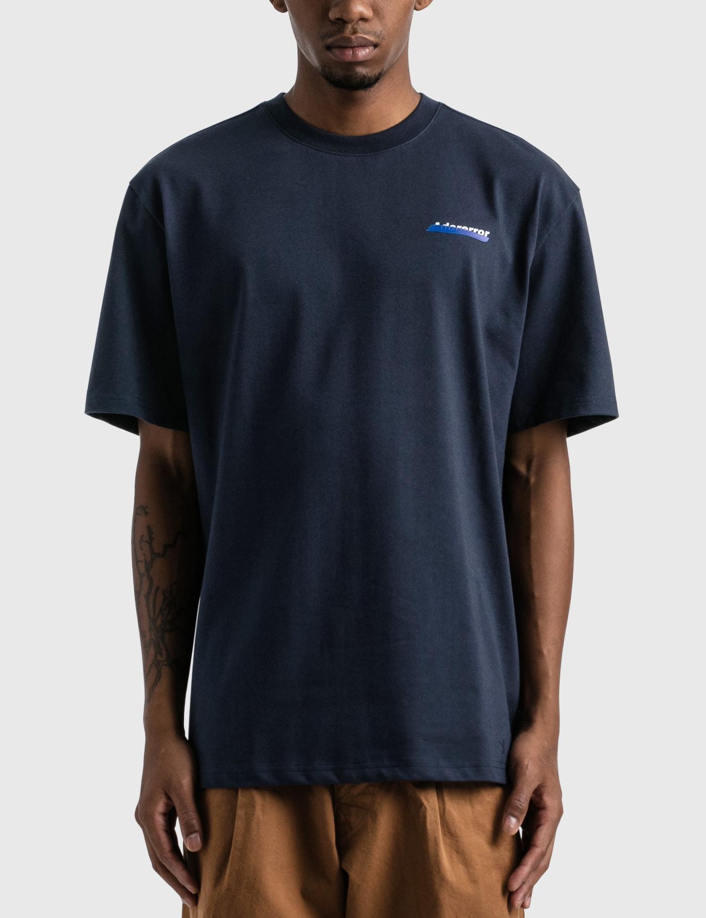 Ader Error Og Diagonal 2201 T-shirt In Blue