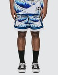 RIPNDIP Great Wave Mesh Basketball Shorts Picutre