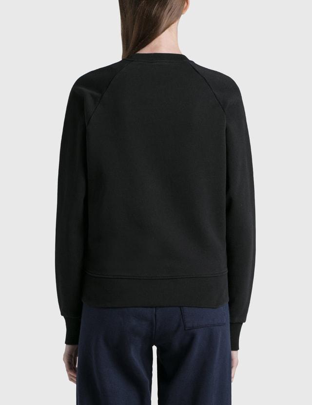Maison Kitsune Fox Head Patch Adjusted Sweatshirt Black Women