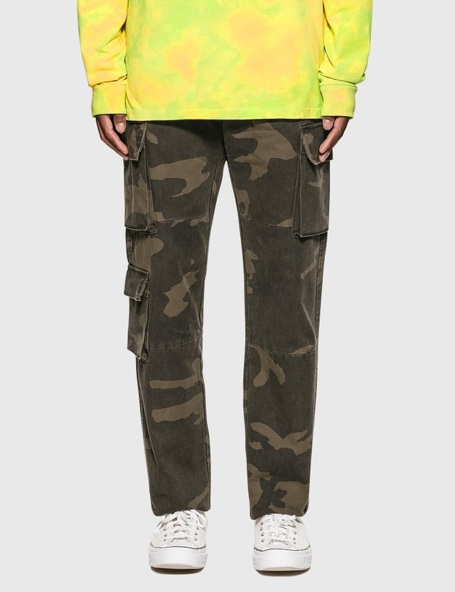 John Elliott Utility Cargo Pants Black Camo Men