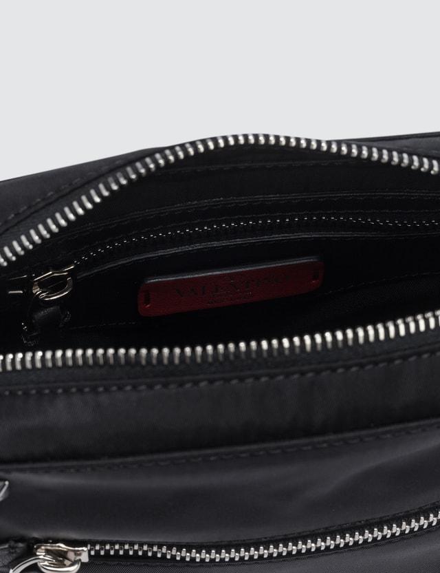 Valentino Rock Stud VLTN Strap Pouch Shoulder Bag