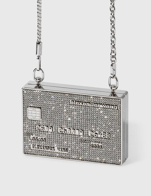 Alexander Wang Wangloc Miniaudiere Metallic Silver Women