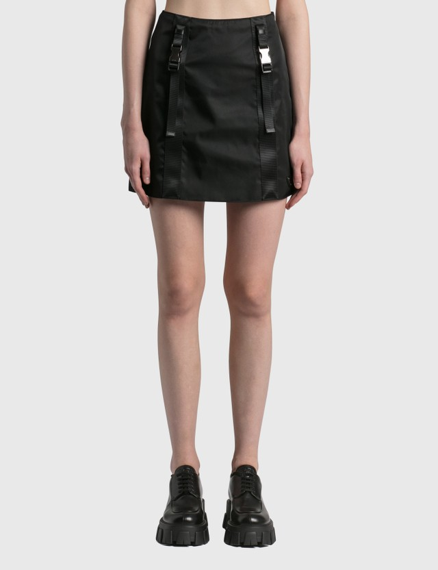 Prada Re-Nylon Gabardine Mini Skirt Nero Women
