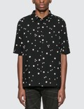 Saint Laurent Short Sleeve Shirt With Rectangle Graphic Picture