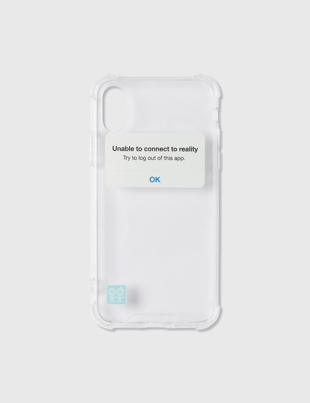 Urban Sophistication Reality Check iPhone Case Clear Unisex
