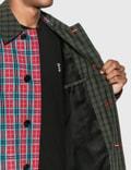 Burberry 콘트라스트 칼라 체크 나일론 트윌 카 코트 Red Pattern Men