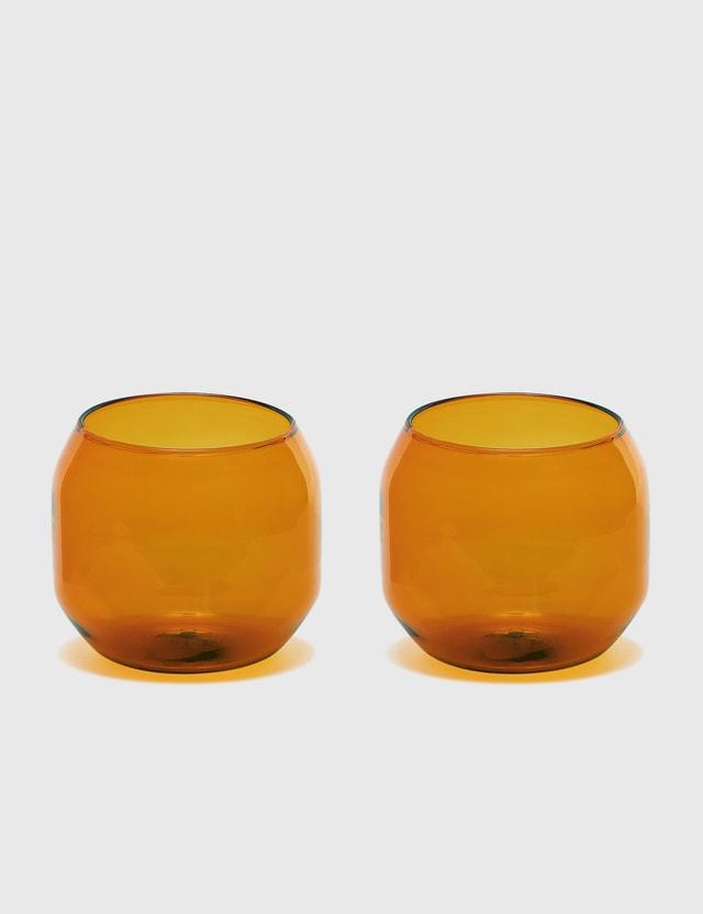 R+D Lab Velasca Acqua Glasses (Set of Two) Amber Unisex