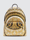 Versace Gold Barocco Print Backpack