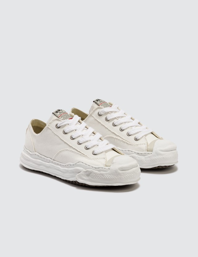 Maison Mihara Yasuhiro Original Sole Toe Cap  Low Canvas Sneaker