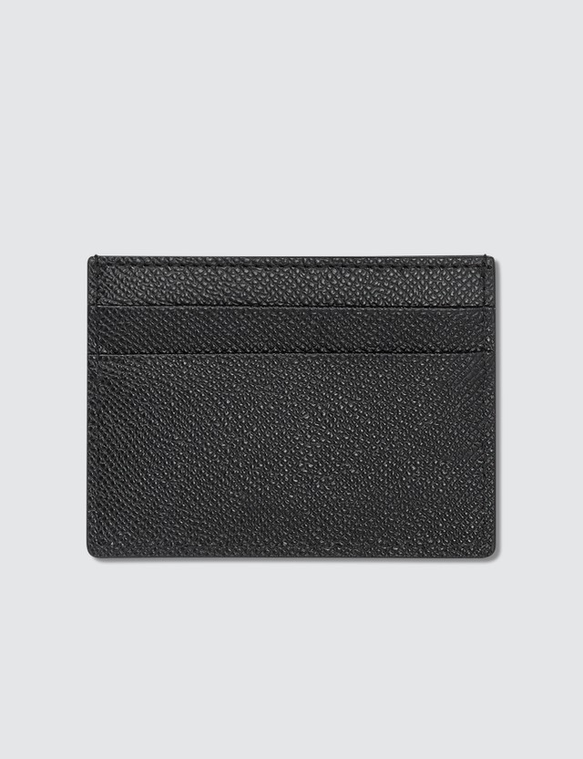 Burberry Grainy Leather Card Case Black Men