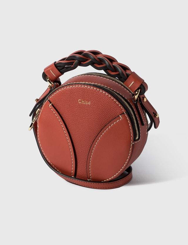 Chloé Mini Daria Round Bag Auburn Orange Women