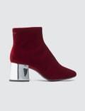 MM6 Maison Margiela Velvet Cube Heel Boots Picture