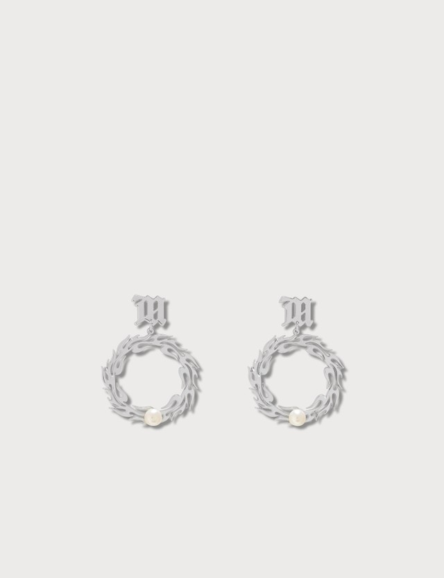 Misbhv Tribal Circle Pearl Earrings