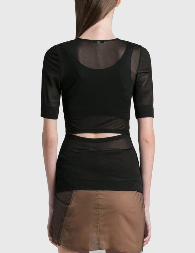 Nensi Dojaka Cut Out Short Sleeve Top Black Women