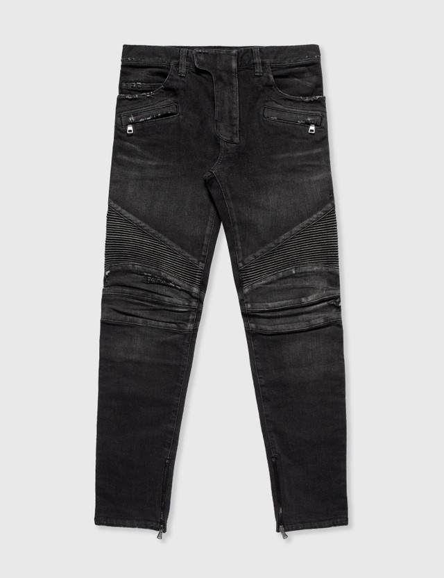 Balmain Balmain Biker Jeans Grey Archives