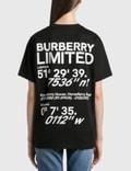 Burberry Coordinates Print Cotton Oversized T-Shirt Black Women