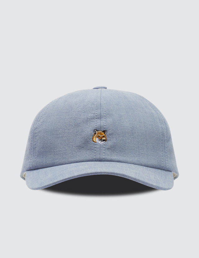 Maison Kitsune 6P Small Fox Head Embroidery Cap