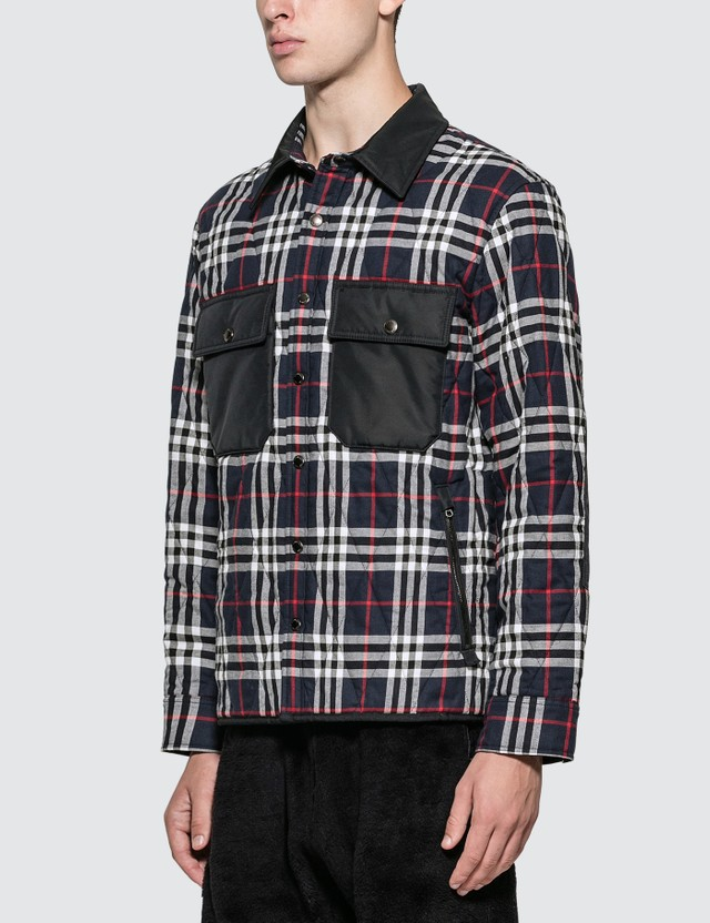 Burberry Quilted Check Cotton Flannel Overshirt