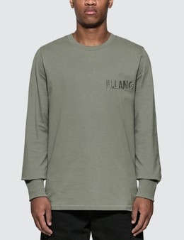 Helmut Lang Raised Font Long Sleeve T-Shirt