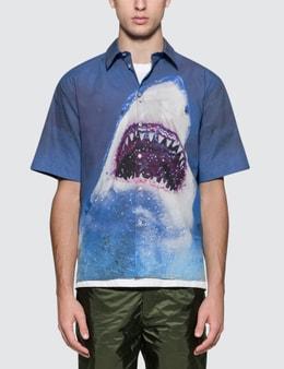 MSGM Shark Print S/S Shirt