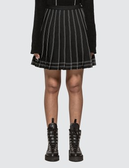 Off-White Pleated Twill Mini Skirt