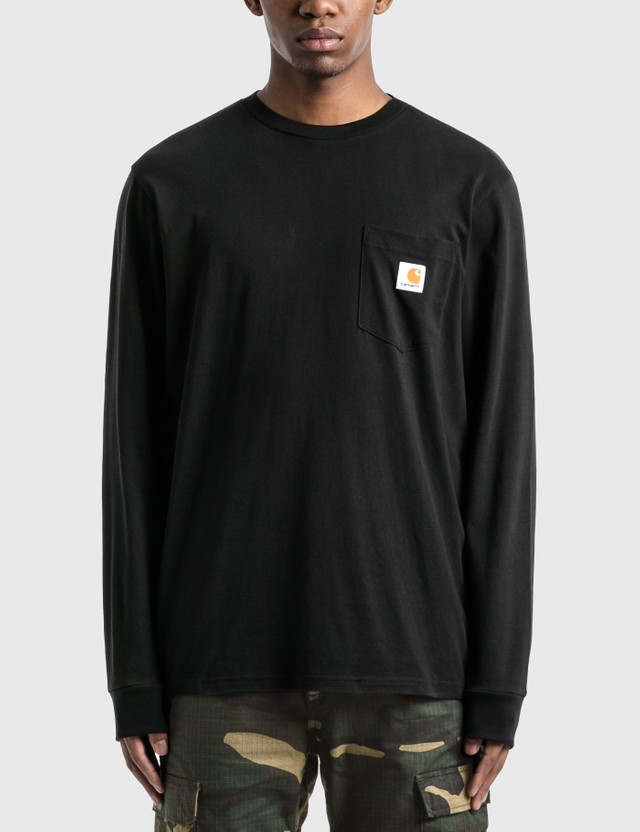 Carhartt Work In Progress Pocket Long Sleeve T-Shirt Black Men