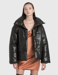 Nanushka Bomi Vegan Leather Bomber Jacket Picture