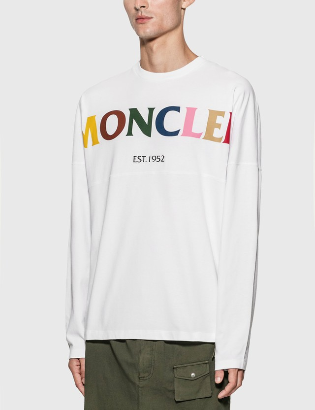 Moncler Genius 1952 Colorful Logo Long Sleeve T-Shirt