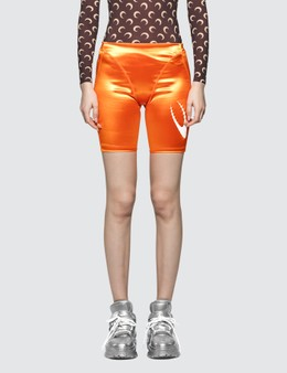 Marine Serre Feminine Shiny Cycling Shorts
