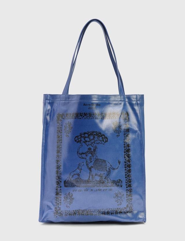 Acne Studios Audrey Tote Bag Denim Blue Women