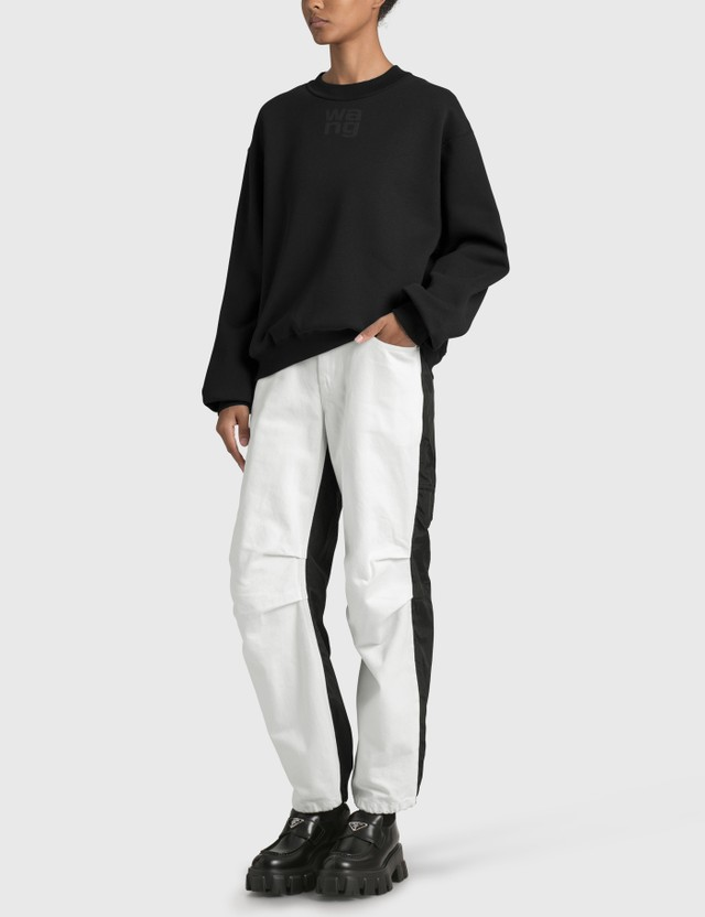 Alexander Wang.T Heavy Brushed Terry Sweatshirt Black Women