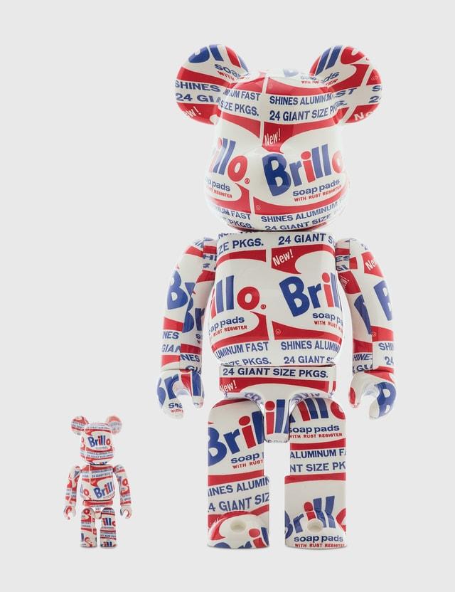 "Medicom Toy Be@rbrick Andy Warhol ""Brillo"" 100% & 400% Set"