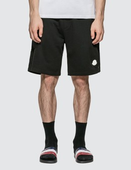 Moncler Jersey Shorts with Patch And Zip Detail