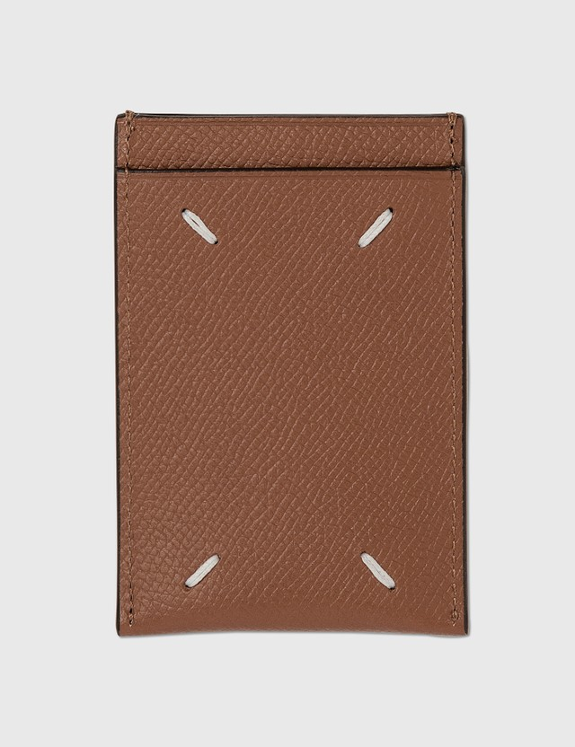 Maison Margiela Pebble Grain Leather Card Case Cuolo Men