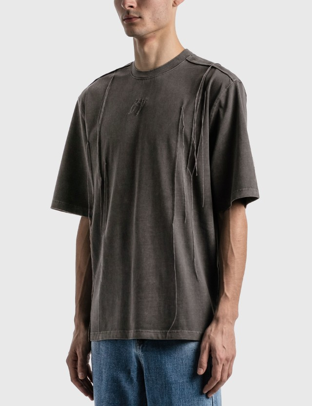 Ader Error Needle Logo T-shirt Chacoal Men