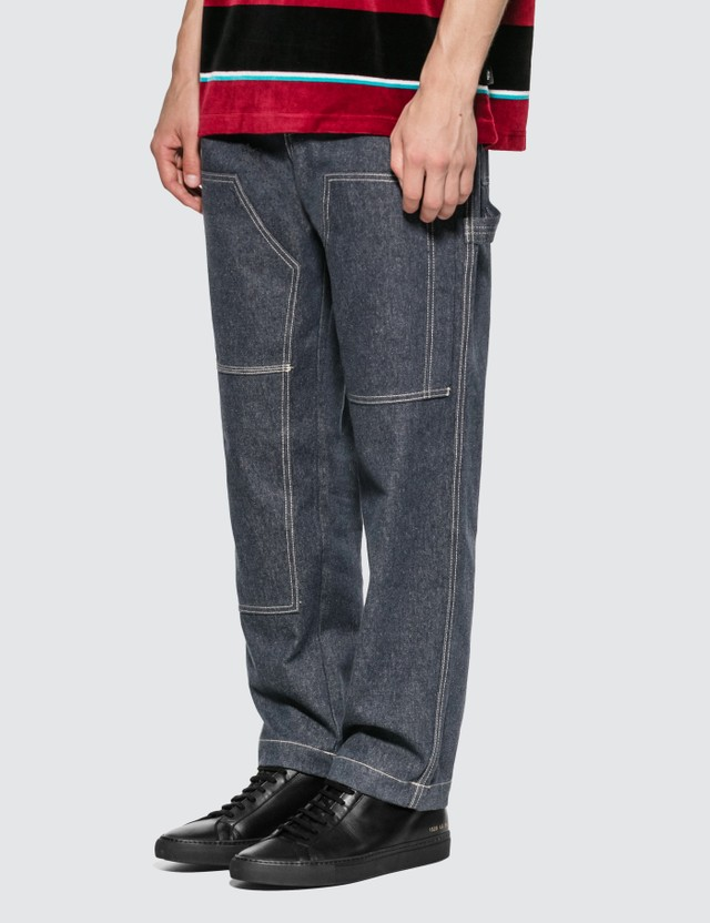 1017 ALYX 9SM 1017 ALYX 9SM x Stussy Carpenter Pants Blu0001-blue Denim Men