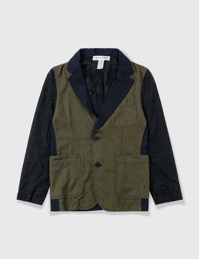 Comme des Garçons Shirt Comme Des Garçons Shirt Wool Patch Blazer Navy Archives