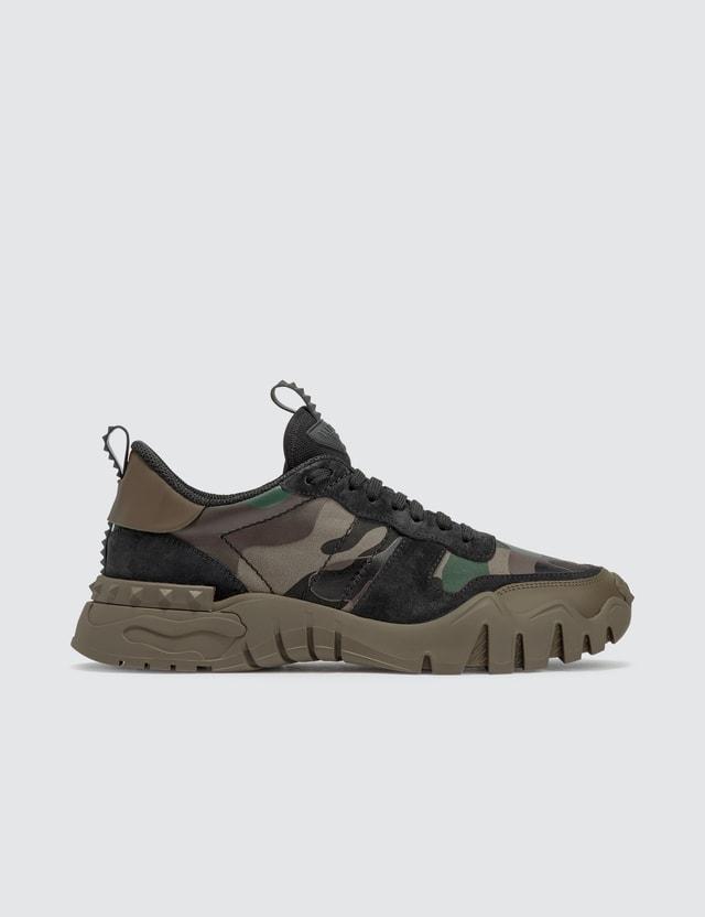 Valentino Valentino Garavani Camouflage Rockrunner Plus Sneaker Army Green-brushwood/army Green/deep Gre Men