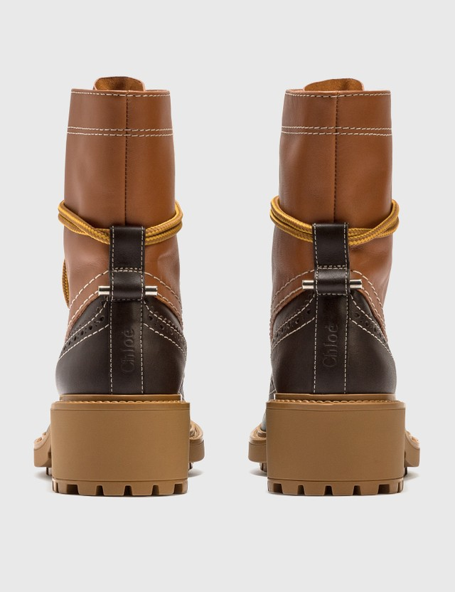 Chloé Franne Bicolor Ankle Boot Luminous Ochre Women
