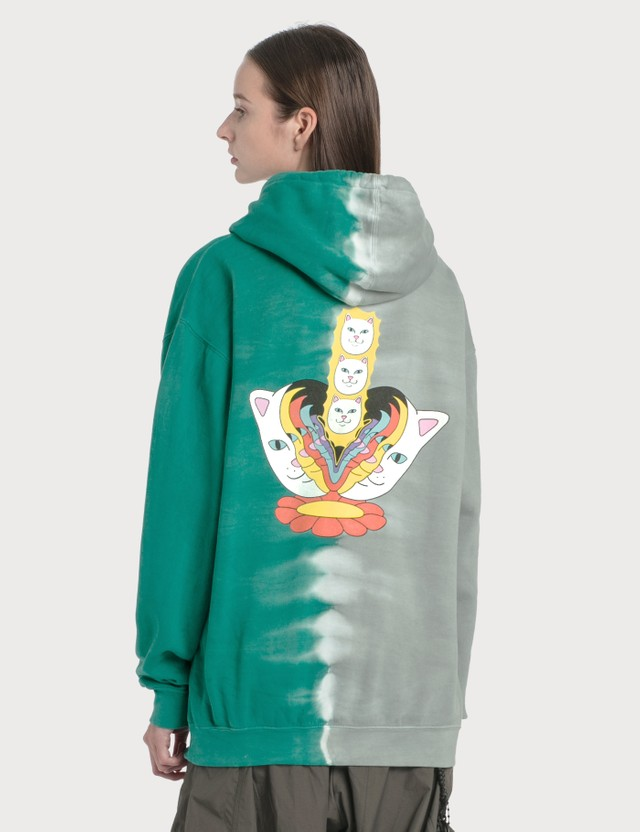 RIPNDIP Splitting Heads Hoodie Teal & Grey Split Wash Women