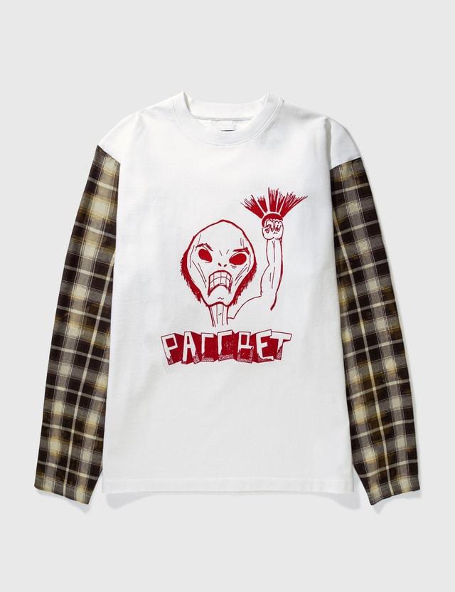 Rassvet Hybrid Check Sleeve T-shirt White Men