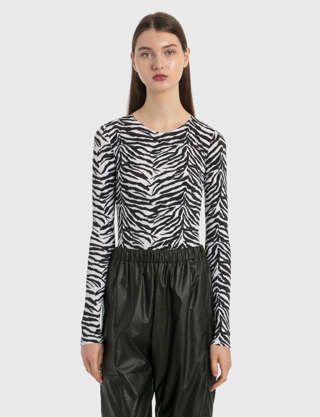 MM6 Maison Margiela Zebra Bodysuit