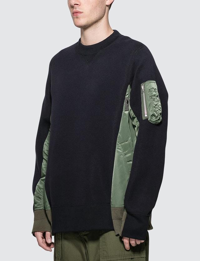 Sacai Sponge Sweat MA-1 Pullover