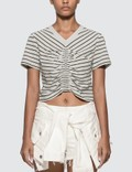 Alexander Wang.T Wash & Go Stripe Ruched Crop T-shirt Picture