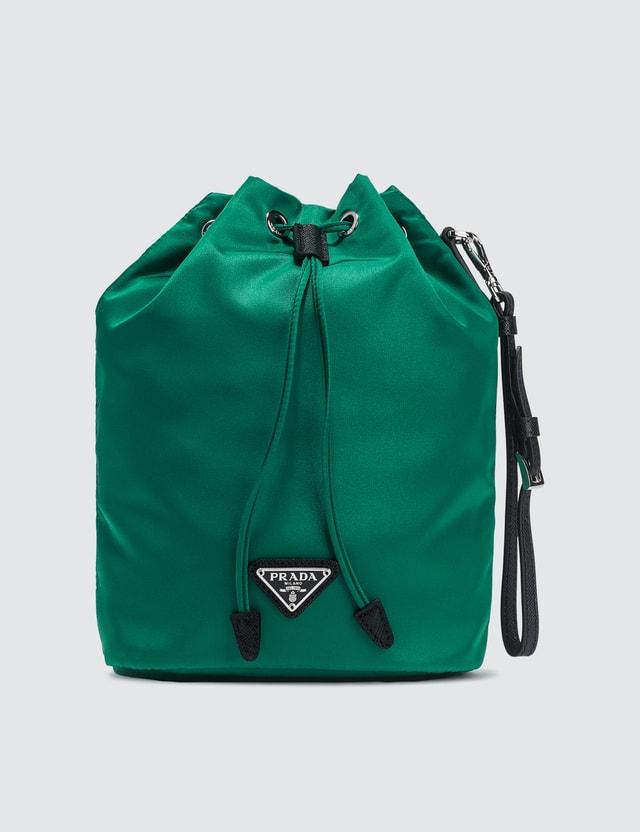 Prada Vela Nylon Drawstring Wash Bag
