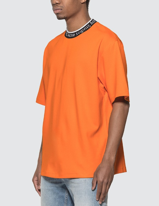 Acne Studios Logo Neck T-Shirt Carrot Orange Men